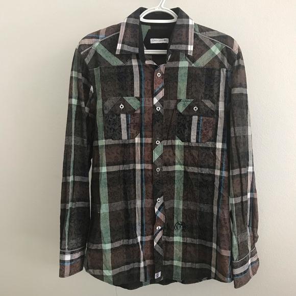 906f4708 John Lennon Shirts | Plaid Button Down Sz 15516 | Poshmark